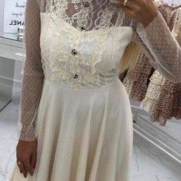 Дамска рокля с дантелени ръкави Лаура