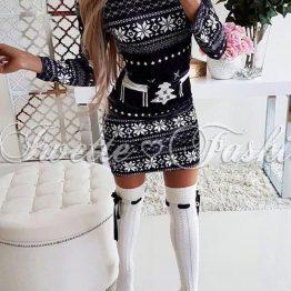 Дамска рокля Снежинки
