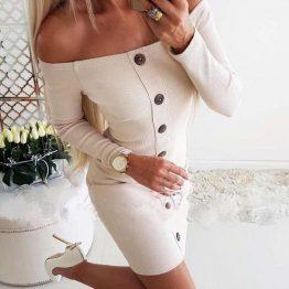 Дамска рокля с копчета Анджела