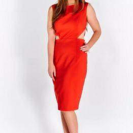 Стилна дамска рокля Меланж