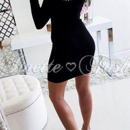 Вечерна дамска рокля Перлички-2