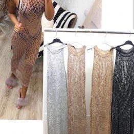 Секси дълга мрежа тип рокля