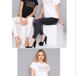 "Дамска блуза с надпис ""Luxe Women"""