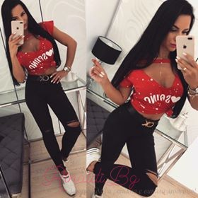 """Дамска къса спортна блуза """"МАША"""""""