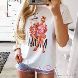 """Дамска блуза с щампа """"Fashion Mommy"""""""