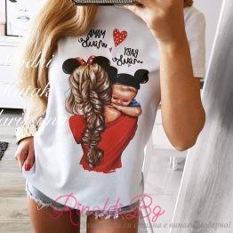 "Дамска блуза с щампа ""Sweet Mommy"""