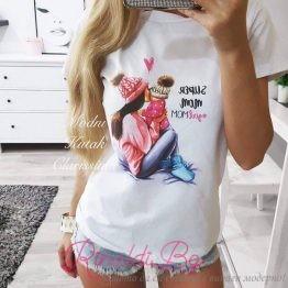 "Дамска блуза с щампа ""Warm Mommy"""