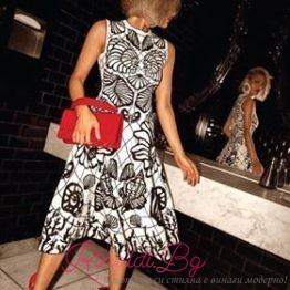 """Дамска черно-бяла рокля """"Класа"""""""