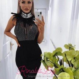 """Дамска дизайнерска рокля """"Кармелита"""""""