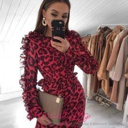 """Дамска дизайнерска рокля """"The Red Print"""""""