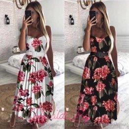 """Дамска дълга рокля на цветя """"Санса"""""""