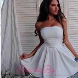 """Дамска лятна бяла рокля """"Антоанет"""""""