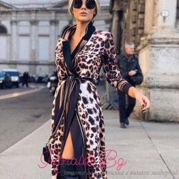 Дамска дълга тигрова рокля