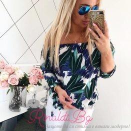 Дамска риза с флорални мотиви