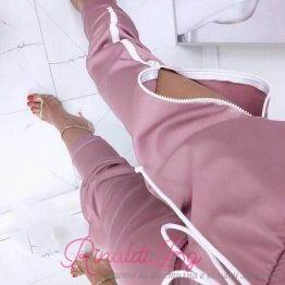 Дамски спортен панталон с цип