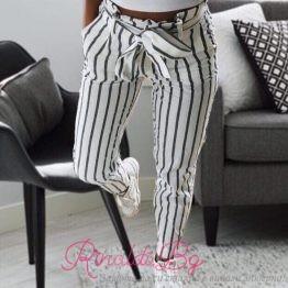 Дамски спортен раиран панталон