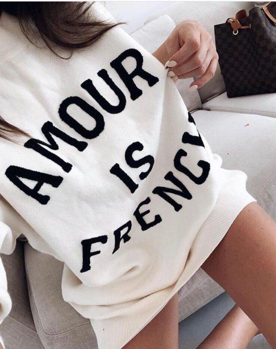 """Дамска туника-рокля """" Amour Is French"""""""