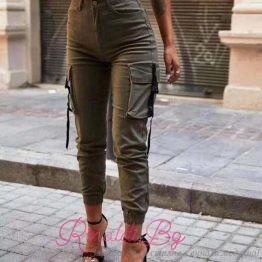 Дамски спортен панталон с връзки
