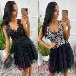 Дамска рокля с тюл и бродерия