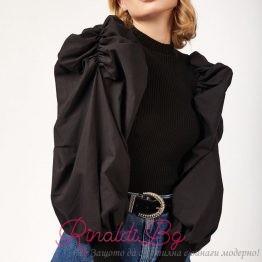 Блуза с буфан ръкав