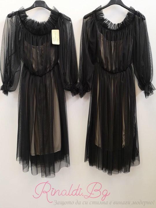 Дамска рокля Тюл в черно