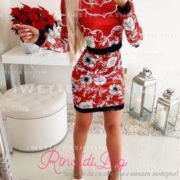 Дамска рокля с цветя
