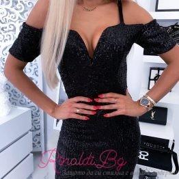 Къса рокля с пайети