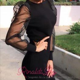 Вечерна дамска рокля Блек
