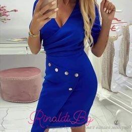 Дамска рокля със златни копчета