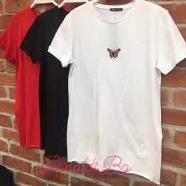 Дамска тениска с пеперудка