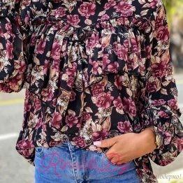 Дамска риза с рози