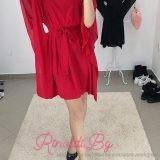 Дамска рокля шифон с колан
