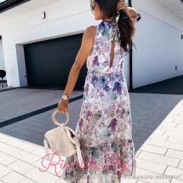 Дамска дълга лятна рокля Симона