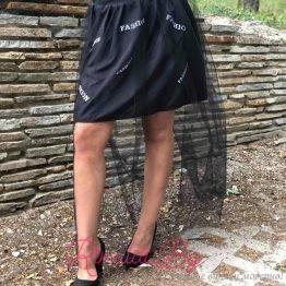 Дамска пола Fashion с тюл