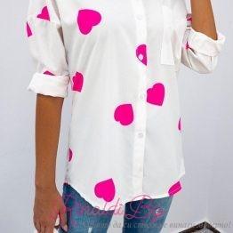 Дамска риза със сърчица