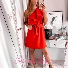 Дамска рокля с колан