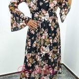 Дълга дамска рокля с цветя