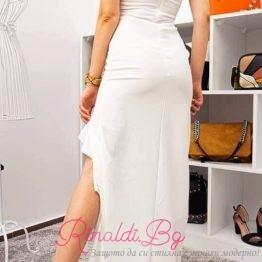 Дълга дамска рокля с цепка
