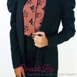 Дамско сако с буфан ръкав
