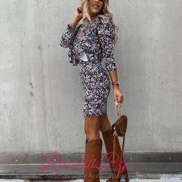 Дамска рокля с буфан ръкави