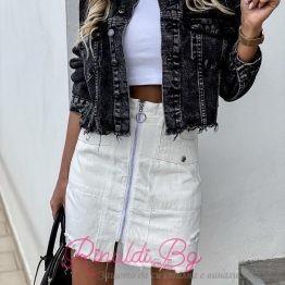 Дамски дънково яке