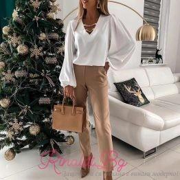 Дамска блуза с метални верижки