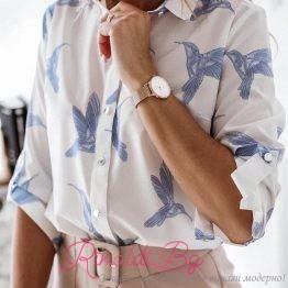 Дамска риза с колибри