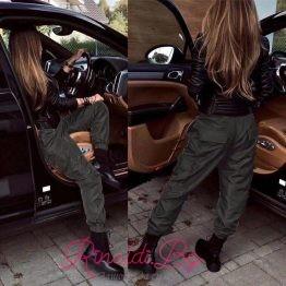 Дамски спортен шушляков панталон с джобове