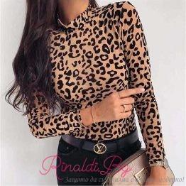 Дамско боди с леопардов принт