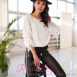 Стилна дамска блуза с набрани ръкави