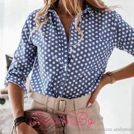 Стилна дамска риза на точки