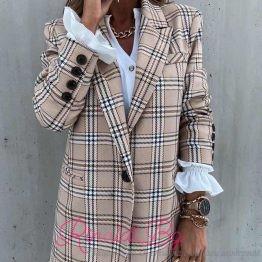 Дамско сако с хастар каре