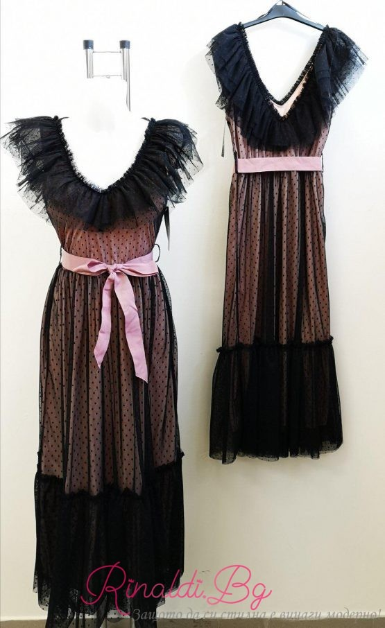 Дамска рокля с тюл Блекси
