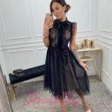 Дамска рокля с тюл Сюита